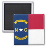 Magnet with Flag of North Carolina State - USA