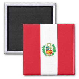 Magnet with Flag of Peru