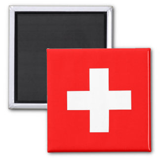 Magnet with Flag of Switzerland
