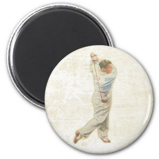 Magnet with Vintage Golf Player