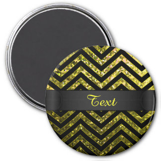Magnet Zig Zag Sparkley Texture