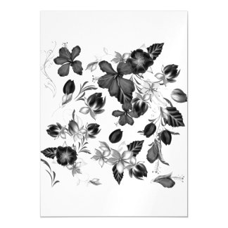 Magnetic card with Folk flowers Magnetic Invitations