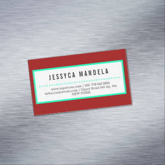Magnetic, crimson red magnetic business cards