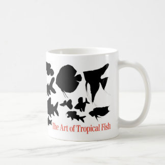 Magnetic cup 2 of shadow picture of tropical fish basic white mug