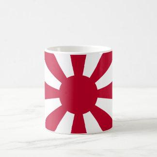 Magnetic cup of leader flag basic white mug