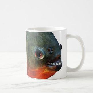 Magnetic cup of piranha, N0.2 Basic White Mug