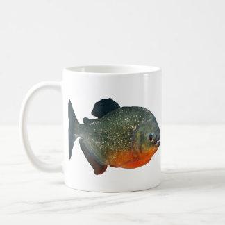 Magnetic cup of piranha, N0.3 Basic White Mug