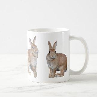 Magnetic cup of rabbit basic white mug