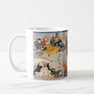 Magnetic cup of seven luck God, No.01 Basic White Mug