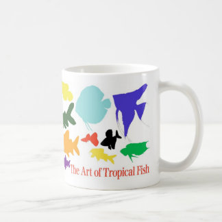 Magnetic cup of shadow picture of tropical fish basic white mug