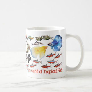 Magnetic cup of small-sized tropical fish basic white mug