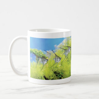 Magnetic cup of young fish of angel fish basic white mug