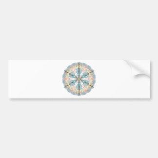 Magnetic Energy Mandala Bumper Sticker