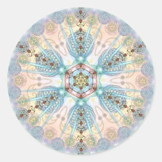 Magnetic Energy Mandala Classic Round Sticker