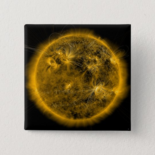 Magnetic field lines on the Sun 15 Cm Square Badge