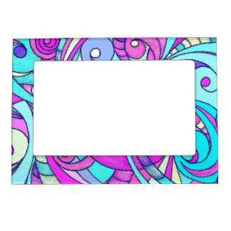 Magnetic Frame Floral abstract background
