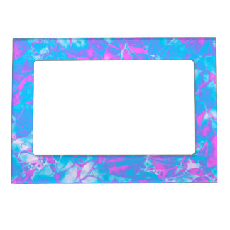 Magnetic Frame Grunge Art Floral Abstract