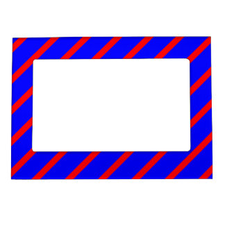 Magnetic Frame with Red-Royal Blue Stripes
