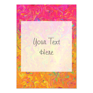 Magnetic Invitation Fluid Colors Magnetic Invitations