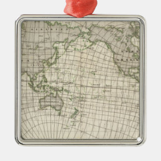 Magnetic Map of the World Christmas Ornament