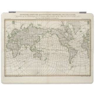 Magnetic Map of the World iPad Cover