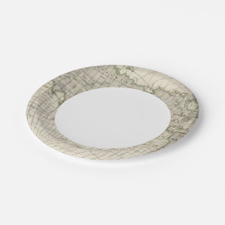 Magnetic Map of the World Paper Plate