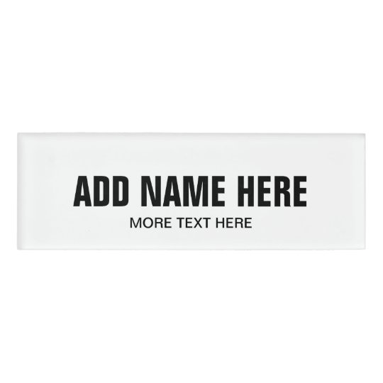 Magnetic name tags with custom name for business