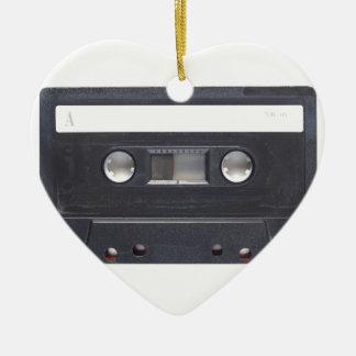 magnetic tape audio cassette ceramic heart decoration