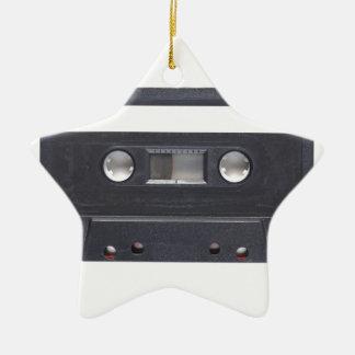 magnetic tape audio cassette ceramic star decoration