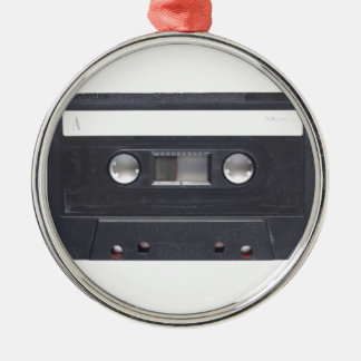 magnetic tape audio cassette Silver-Colored round decoration
