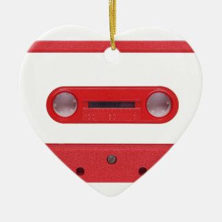 Magnetic Tape Cassette For Audio Music Ceramic Heart Decoration