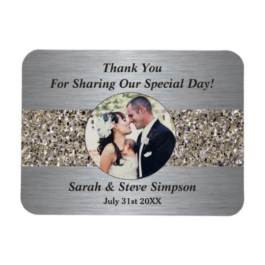 Magnetic Wedding Photograph Thank you Memento Magnet