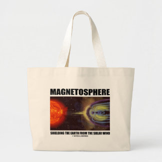 Magnetosphere Shielding Earth From Solar Wind Jumbo Tote Bag