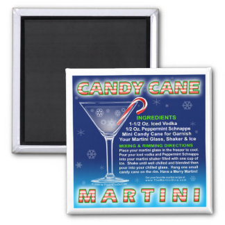 Magnets -  Candy Cane Martini Art