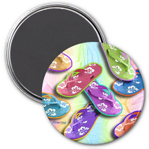 Magnets - FLIP FLOPS Pop Art