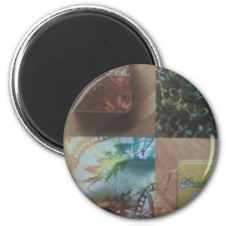 (Magnets, fossil desing) 6 Cm Round Magnet