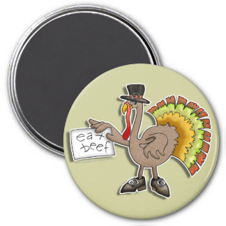 "Magnets - Thanksgiving Turkey ""eat beef"""
