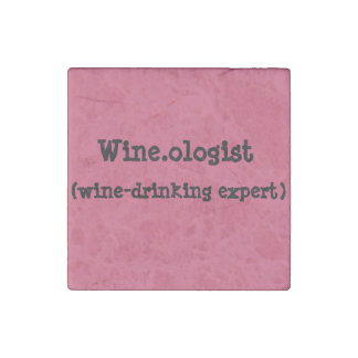 Magnets with Wine-drinking Humor Stone Magnet