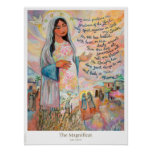 Magnificat (Canticle of Mary) Catholic Poster