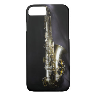 Magnificent brass saxophone on black background iPhone 7 case