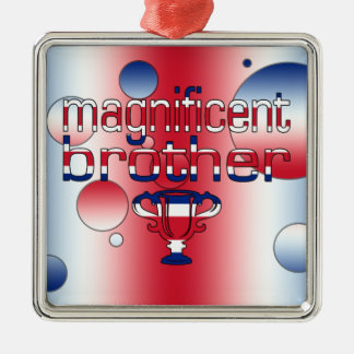 Magnificent Brother Britain Flag Colors Christmas Ornament