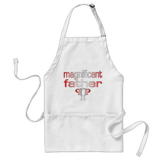 Magnificent Father in Canada Flag Colors Standard Apron