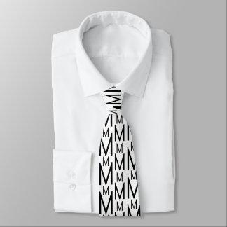 Magnificent Letter M Monogram Elegant Tie