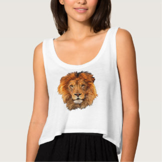 Magnificent Lion's Head Beautifully Regal Tank Top