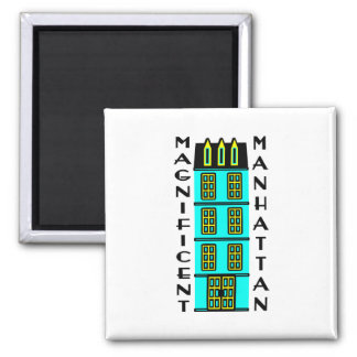 Magnificent Manhattan With Luxury NYC Townhouse Fridge Magnet