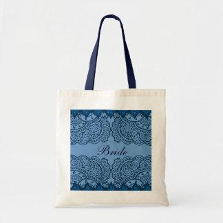 Magnificent Mehndi Mandalas (Blue) Wedding Tote Bags