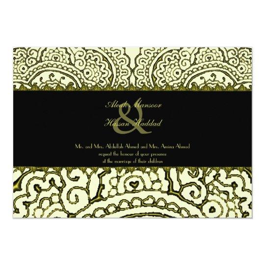 Magnificent Mehndi Mandalas (Gold Effect) Wedding Card
