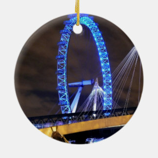Magnificent! Millennium Wheel London Round Ceramic Decoration