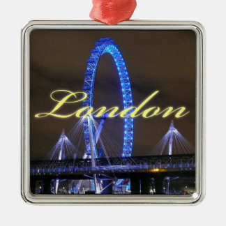 Magnificent! Millennium Wheel London Silver-Colored Square Decoration