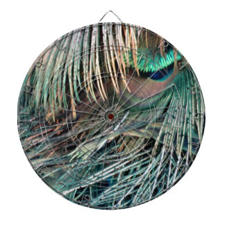 Magnificent Peacock  Feather Dartboard